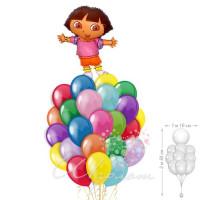 Букет шаров с Дашей путешественницей