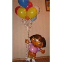 Композиция из гелевых шариков с героем м/ф Даша путешественница