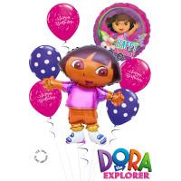 Букет шариков с героиней м/ф Даша путешественница