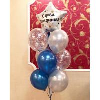 Фонтан шаров с гелием на День Рождения