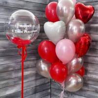 Сет воздушных шаров на День Рождения с вашими поздравлениями