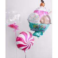 Сет шаров с гелием на День Рождения