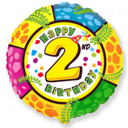 Шар-круг Happy Birthday 2