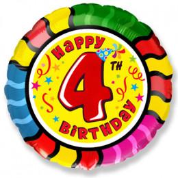 Шар-круг Happy Birthday 4