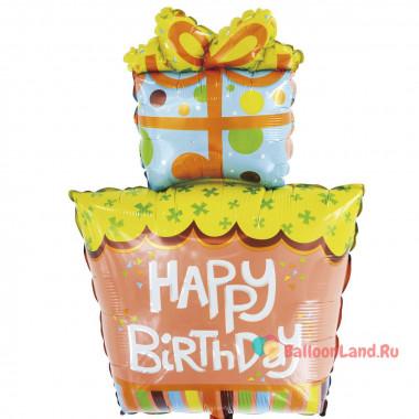 Фигурный шар Подарок на День Рождения