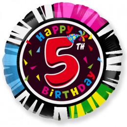 Шар-круг Happy Birthday 5