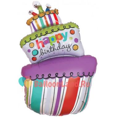 Фигурный шар Большой Праздничный Торт