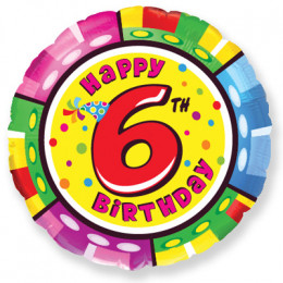 Шар-круг Happy Birthday 6