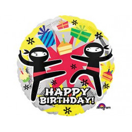 Шар-круг happy Birthday (ниндзи)