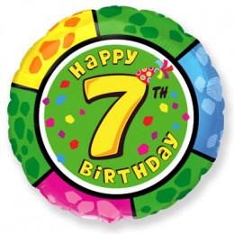 Шар-круг Happy Birthday 7