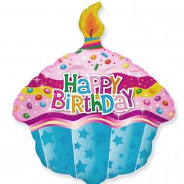Фигурный шар Кекс с Днем рождения