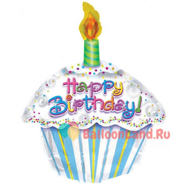 Фигурный шар 'Тортик С Днем рождения'