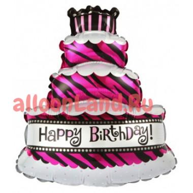 Фигурный шар Розовый торт