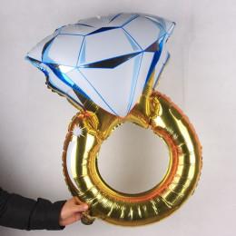 Фигурный шар Кольцо с бриллиантом - дополнительное фото #1