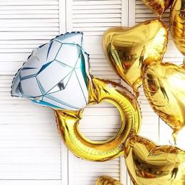 Фигурный шар Кольцо с бриллиантом - дополнительное фото #2