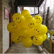 Латексные шарики Смайлы - дополнительное фото #1