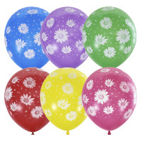 Воздушные шары с ромашками - дополнительное фото #1
