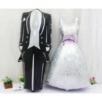 Фигурный шар Свадебное платье (белое) - дополнительное фото #1