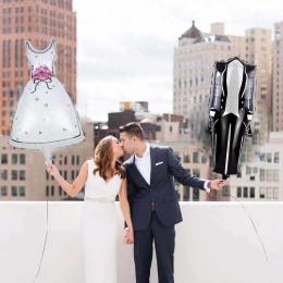 Фигурный шар Свадебное платье (белое) - дополнительное фото #2