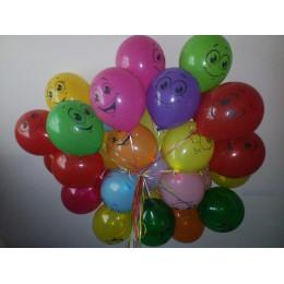 Воздушные шары Улыбки разноцветные - дополнительное фото #1