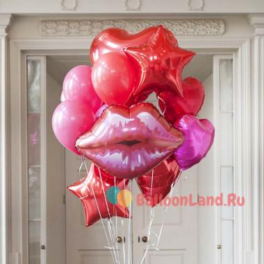 Букет гелиевых шаров Воздушных поцелуй