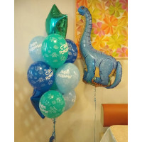 Набор шаров на День Рождения с динозавром