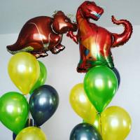 Сет из шаров с Динозаврами
