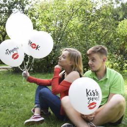 Воздушные шары Поцелуи (с надписями) - дополнительное фото #1