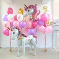 Ходячий шар Нежный Единорог с розовыми волосами - дополнительное фото #3