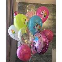 Букет воздушных шариков пони и единороги