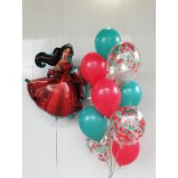 Композиция из гелиевых шариков Принцесса Авалора Елена