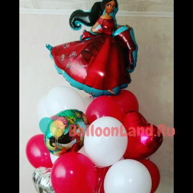 Букет из шариков с гелием с Еленой из Авалора