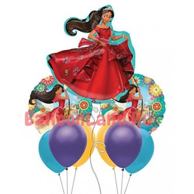 Букет шаров с гелием с персонажем м/ф Елена из Авалора
