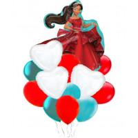 Букет гелевых шариков с мультперсонажем Елена из Авалора