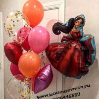 Набор шариков Принцесса Елена из Авалора с сердцем, звездой и шарами с конфетти