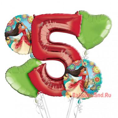 Букет шаров Елена из Авалора с цифрой и сердцами