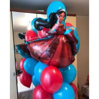 Букет гелиевых шариков с принцессой Еленой из Авалора
