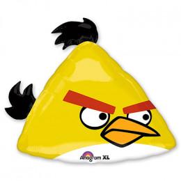"Фигурный шар Желтая Птичка Чак из мультика ""Angry Birds"""