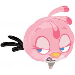 "Фигурный шар Розовая птичка из мультика ""Angry Birds"""