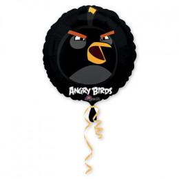 Шар-круг Черная птичка из мультика Angry Birds