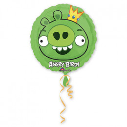 Шар-круг Зеленая свинка из мультика Angry Birds