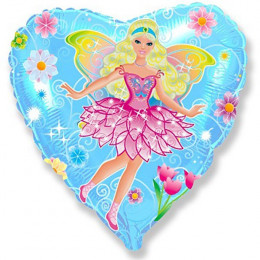 Шар-сердце Принцесса с крыльями