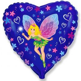 Шар-сердце Фея-бабочка