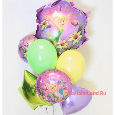Букет шаров с феей Динь-динь
