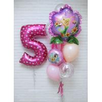 Сет воздушных шаров Фея динь-динь с цифрой
