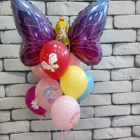 Букет шаров для девочки с феей-бабочкой