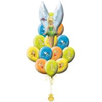 Букет из шаров с мультперсонажем феей Динь-динь