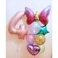 Композиция из шариков на День Рождения с феей