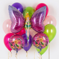 Сет из воздушных шаров с феей-бабочкой