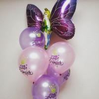 Букет из шариков с гелием Фея-бабочка для маленькой принцессы